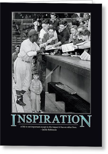 Rare Greeting Cards - Jackie Robinson Inspiration Greeting Card by Retro Images Archive