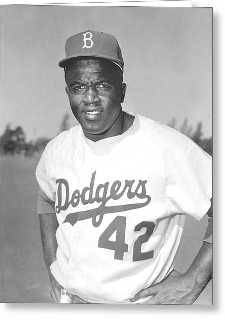 Brooklyn Dodgers Greeting Cards - Jackie Robinson Poster Greeting Card by Gianfranco Weiss