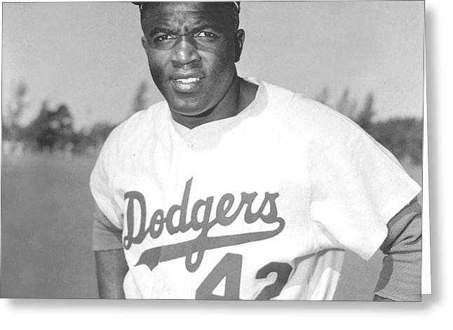 Jackie Robinson Poster Greeting Card by Gianfranco Weiss