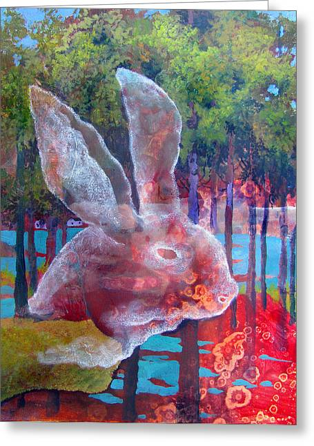 Ghost Like Greeting Cards - Jackrabbit Greeting Card by James Huntley