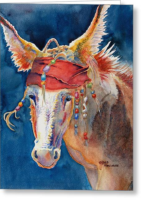 Jack Burro Greeting Card by Deb  Harclerode