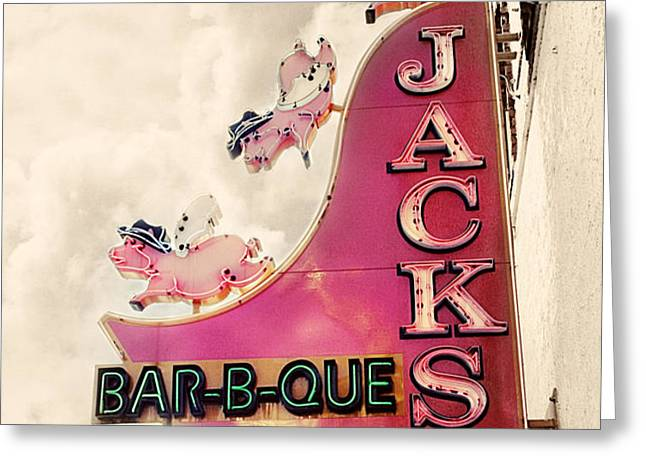 Jacks BBQ Greeting Card by Amy Tyler