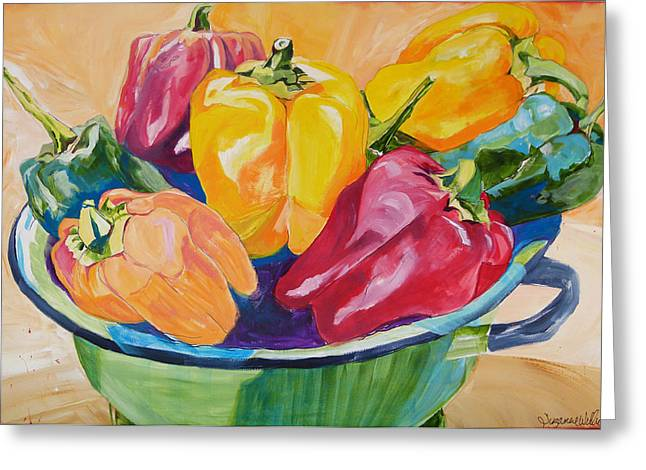 Suzanne Willis Greeting Cards - Jacks Peppers Greeting Card by Suzanne Willis