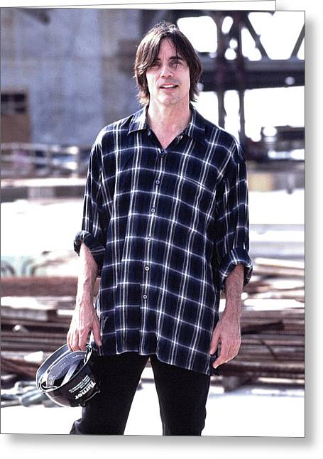 Rolling Stones Photographs Greeting Cards - Jackson Browne Greeting Card by William Ragan