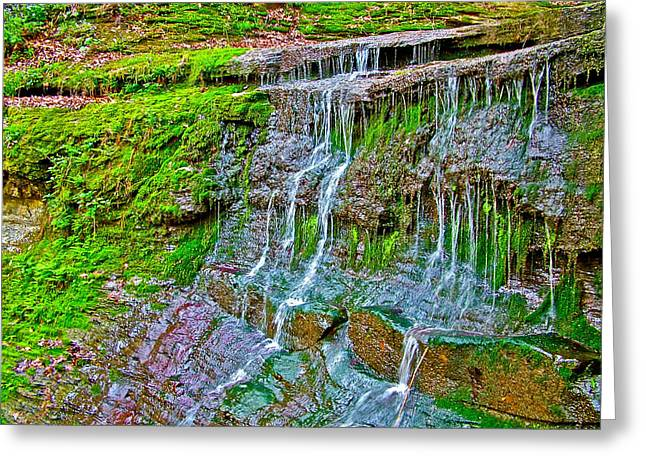 Natchez Trace Parkway Greeting Cards - Jackson Falls at Mile 405 Natchez Trace Parkway-Tennessee Greeting Card by Ruth Hager