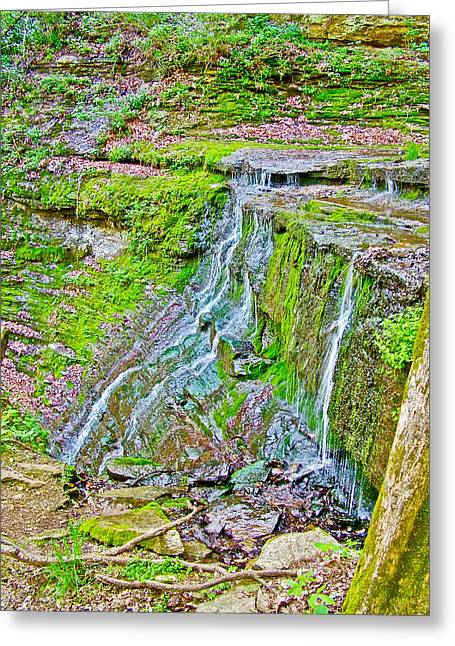 Natchez Trace Parkway Greeting Cards - Jackson Falls at Mile 405 of Natchez Trace Parkway-Tennessee Greeting Card by Ruth Hager