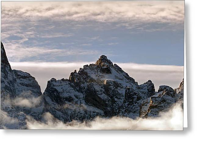 Snow Capped Greeting Cards - Jackson Hole Jagged Skyscrapers Greeting Card by Wildlife Fine Art