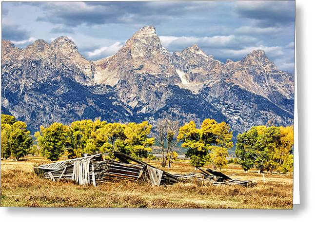 Bishops Peak Greeting Cards - Jackson Hole Greeting Card by Kathleen Bishop