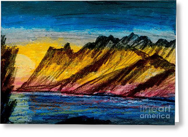 Park Scene Mixed Media Greeting Cards - Jackson Lake and Tetons Greeting Card by R Kyllo