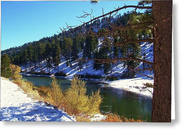 Angeles Forest Greeting Cards - Jackson Lake - California Winter Greeting Card by Glenn McCarthy Art and Photography