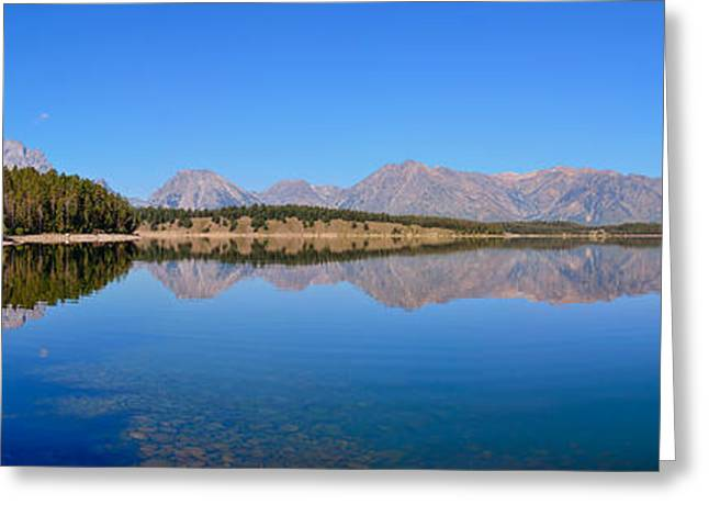 Grand Tetons Greeting Cards - Jackson Lake Reflections Greeting Card by Greg Norrell
