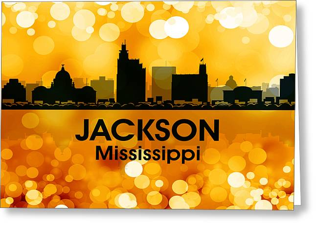 Concrete Jungle Mixed Media Greeting Cards - Jackson MS 3 Greeting Card by Angelina Vick