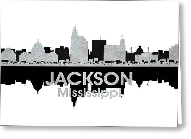 Concrete Jungle Mixed Media Greeting Cards - Jackson MS 4 Greeting Card by Angelina Vick