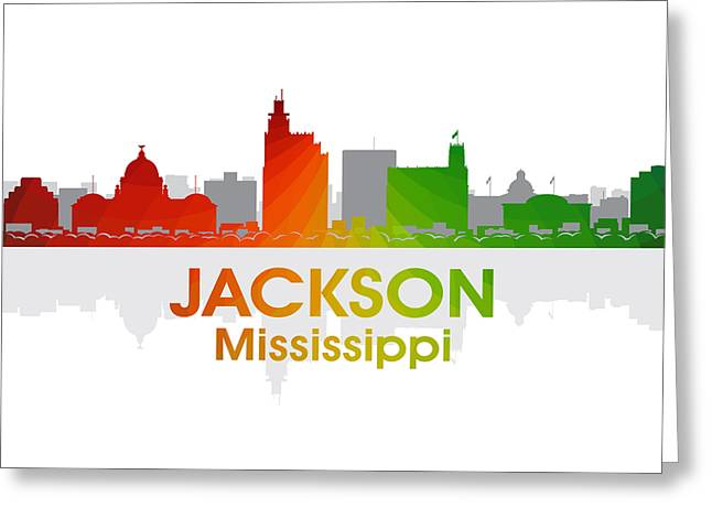 Concrete Jungle Greeting Cards - Jackson MS Greeting Card by Angelina Vick