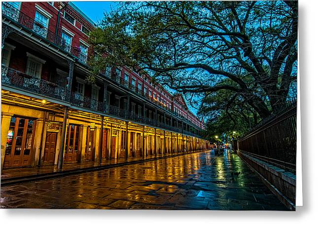 French Doors Greeting Cards - Jackson Square at dawn Greeting Card by Andy Crawford