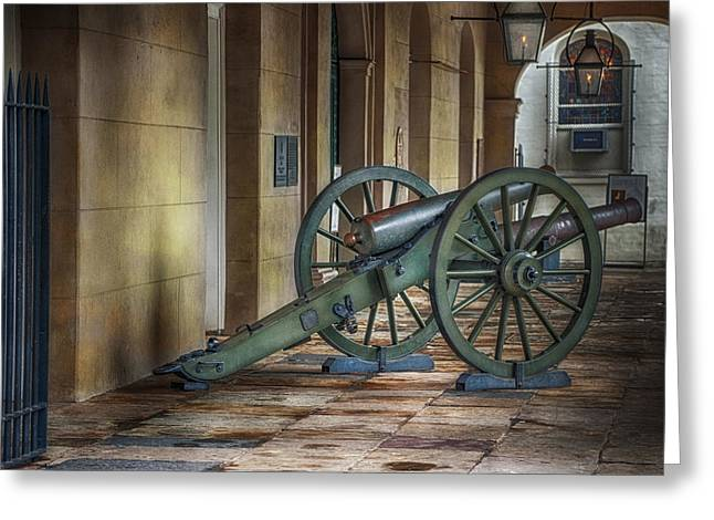 Jackson Square Cannon Greeting Card by Brenda Bryant