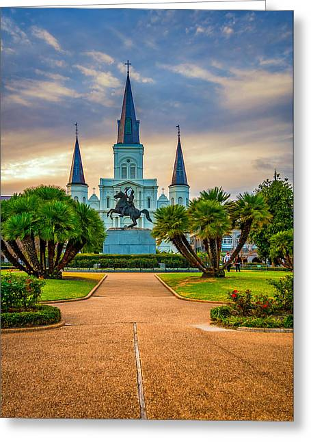 Jackson Square Cathedral Greeting Card by Steve Harrington