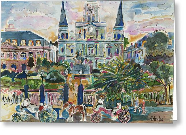 Jackson Square Greeting Card by Helen Lee
