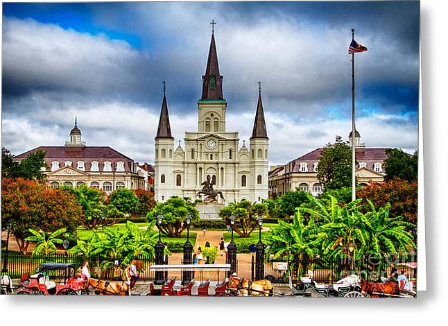 New Orleans Greeting Cards - Jackson Square New Orleans Greeting Card by Jarrod Erbe