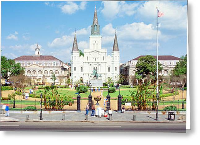 Ironworks Greeting Cards - Jackson Square, New Orleans, Louisiana Greeting Card by Panoramic Images