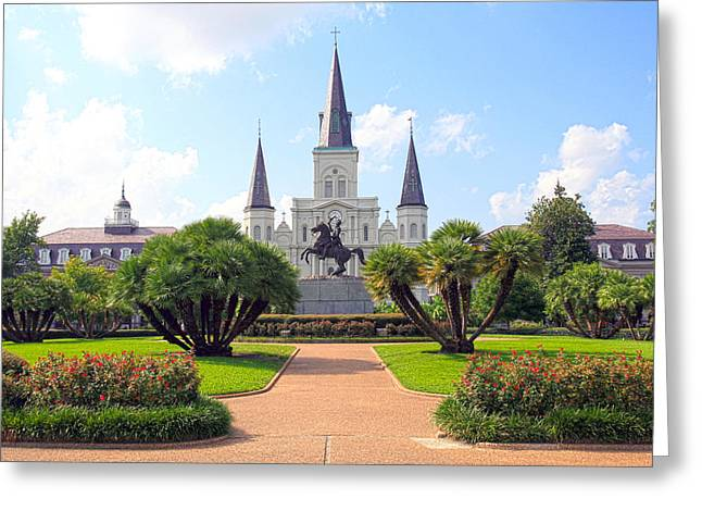 Battle Of New Orleans Greeting Cards - Jackson Square Greeting Card by Ryan Burton