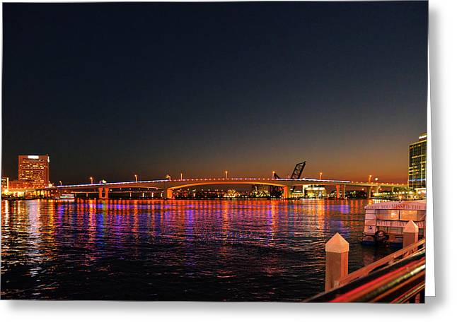 Reflections Greeting Cards - Jacksonville Acosta Bridge Greeting Card by Christine Till