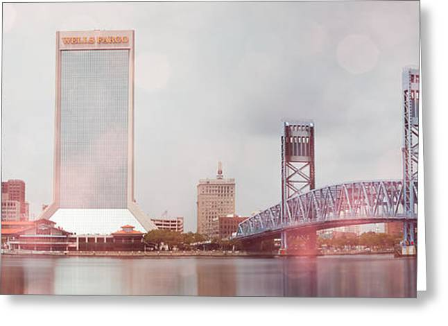 Jacksonville Greeting Cards - Jacksonville and Main Street Bridge Greeting Card by Jeff Turpin
