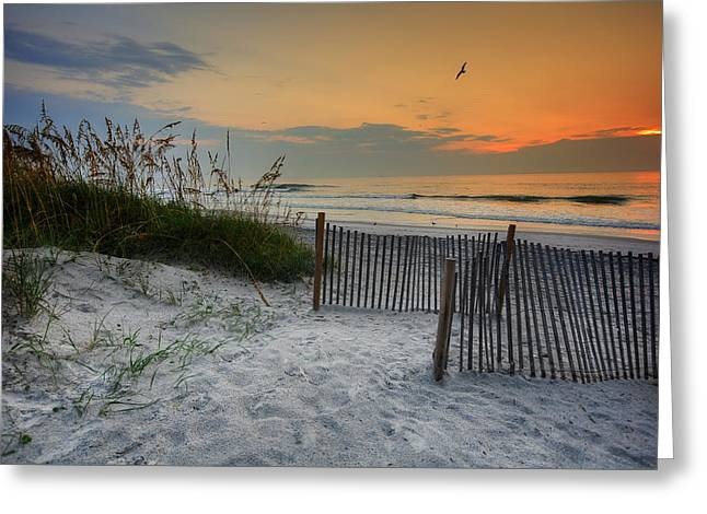 Recently Sold -  - Jacksonville Greeting Cards - Jacksonville Beach Sunset Greeting Card by Chris Moore