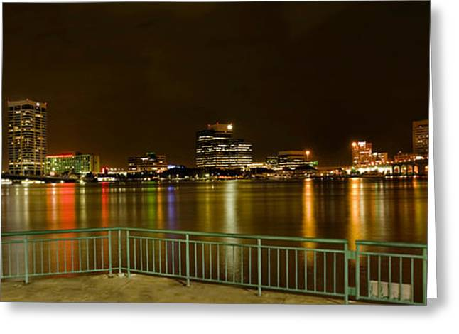 Jacksonville Greeting Cards - Jacksonville bridges and waterfront Greeting Card by Jodi Jacobson