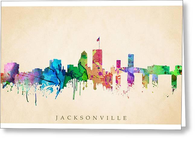 Steve Will Greeting Cards - Jacksonville Cityscape Greeting Card by Steve Will