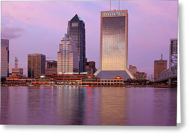 Main Street Greeting Cards - Jacksonville Fl Greeting Card by Panoramic Images