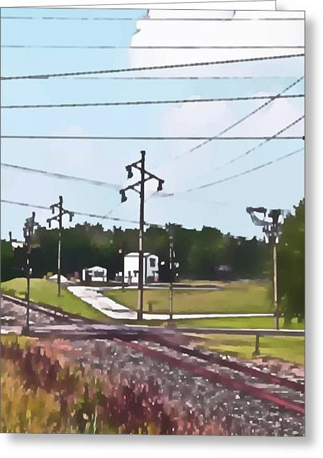 Jacksonville Il Rail Crossing 3 Greeting Card by Jeff Iverson