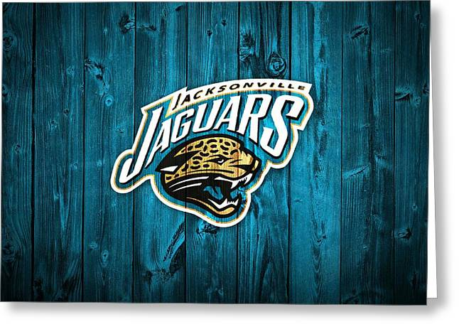 Jacksonville Florida Greeting Cards - Jacksonville Jaguars Barn Door Greeting Card by Dan Sproul