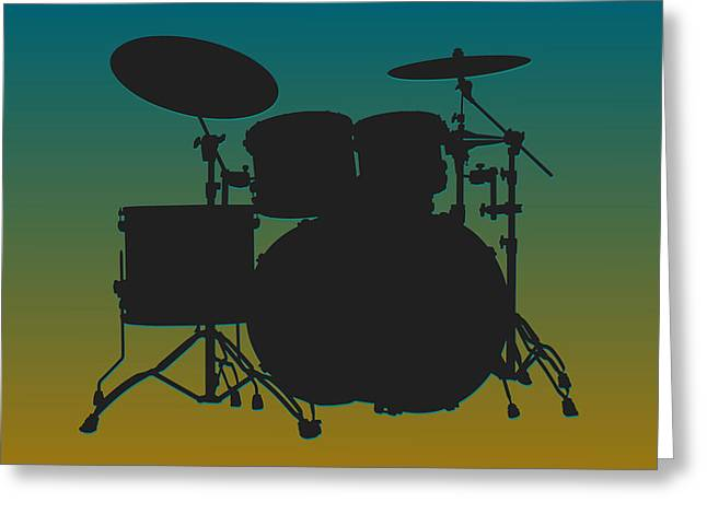 Drum Greeting Cards - Jacksonville Jaguars Drum Set Greeting Card by Joe Hamilton