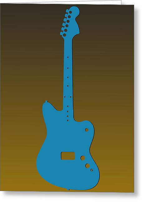 Concert Bands Photographs Greeting Cards - Jacksonville Jaguars Guitar Greeting Card by Joe Hamilton
