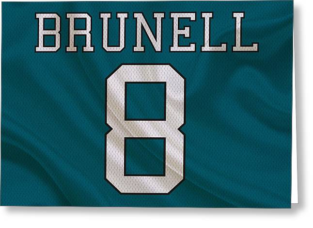 Jaguars Greeting Cards - Jacksonville Jaguars Mark Brunell Greeting Card by Joe Hamilton