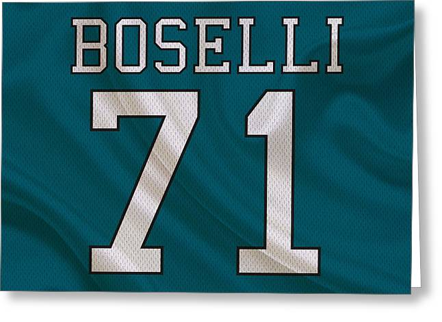 Jacksonville Jaguars Tony Boselli Greeting Card by Joe Hamilton