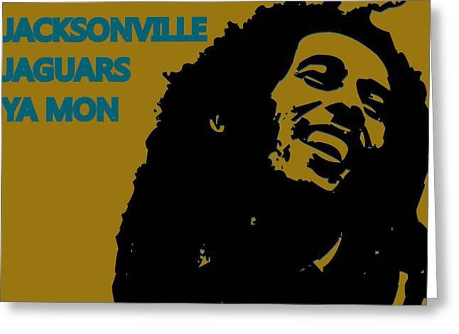 Jaguars Greeting Cards - Jacksonville Jaguars Ya Mon Greeting Card by Joe Hamilton
