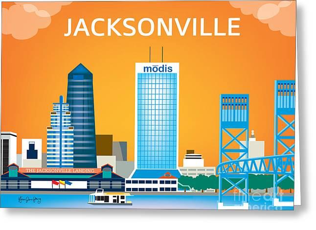 Jacksonville Digital Greeting Cards - Jacksonville Greeting Card by Karen Young