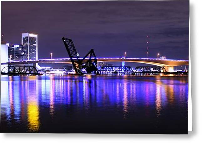 Jacksonville Greeting Cards - Jacksonville Lights Greeting Card by Thomas Johannes