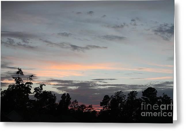 Jacksonville Greeting Cards - Jacksonville North Carolina Sunset Greeting Card by John Telfer