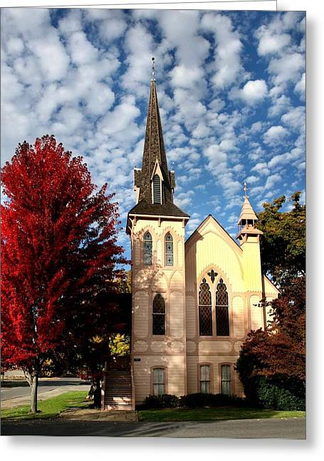 Jacksonville Greeting Cards - Jacksonville Oregon Church Greeting Card by Dean Paddison
