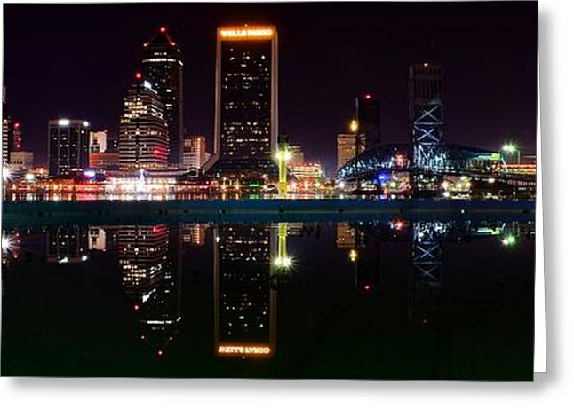 Jacksonville Florida Greeting Cards - Jacksonville Panoramic Greeting Card by Frozen in Time Fine Art Photography