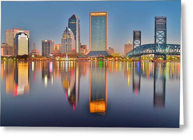 Jacksonville Greeting Cards - Jacksonville Reflecting Greeting Card by Frozen in Time Fine Art Photography