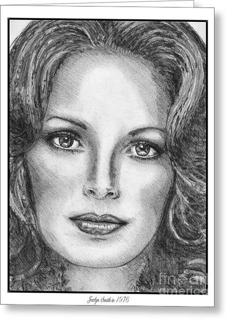 Movie Art Greeting Cards - Jaclyn Smith in 1976 Greeting Card by J McCombie