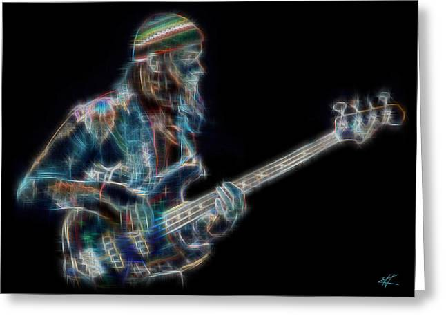 Weather Report Greeting Cards - Jaco Greeting Card by Kenneth Johnson