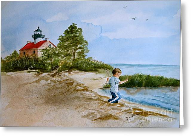 Little Red River Paintings Greeting Cards - Jacob At East Point  Greeting Card by Nancy Patterson