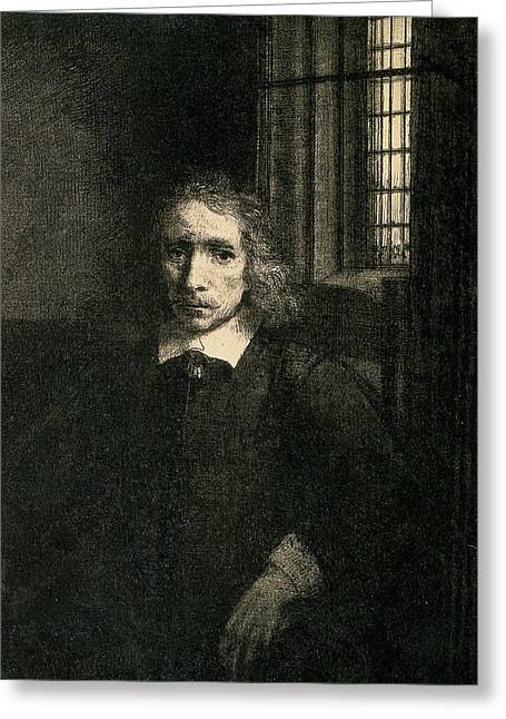 Drypoint Greeting Cards - Jacob Haaringh Greeting Card by Rembrandt