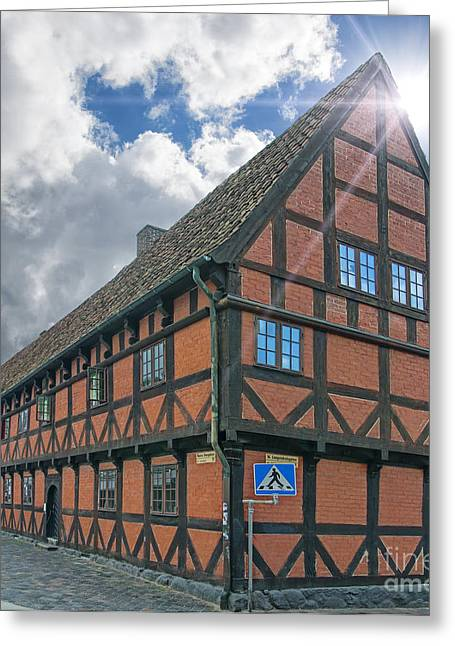 Residential Structure Greeting Cards - Jacob Hansens Hus Greeting Card by Antony McAulay
