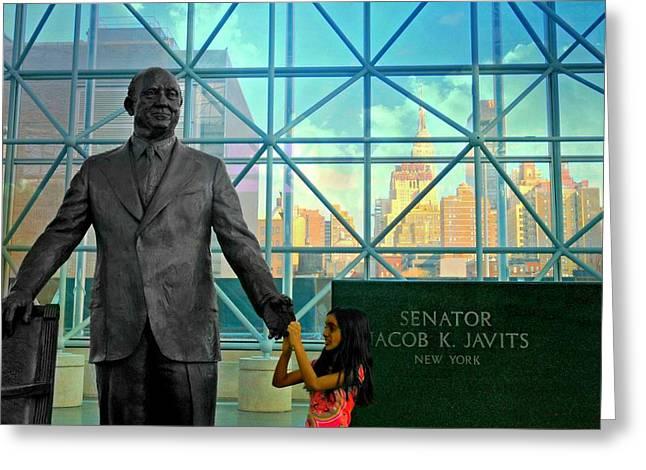 Former Senators Greeting Cards - Jacob K. Javits Greeting Card by Diana Angstadt